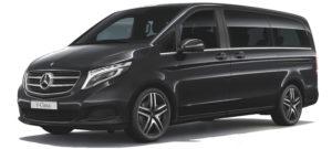 como driver services: mercedes minivan classe v rental + driver